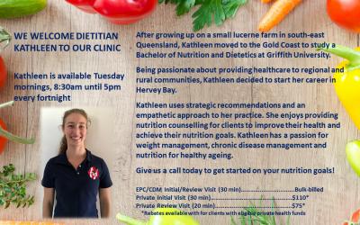 Welcome Dietitian Kathleen!